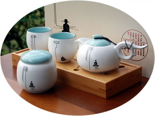 Chinese tea set buddha series B