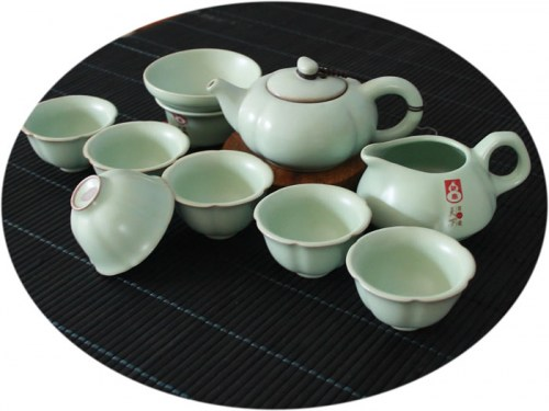 Chinese tea set Ru Kiln 10 Pieces Tea Set C