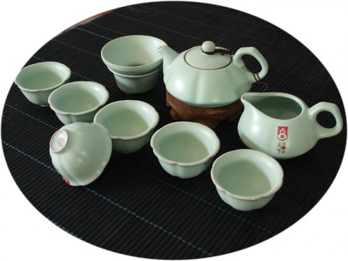 Chinese tea set Ru Kiln 10 Pieces Tea Set D